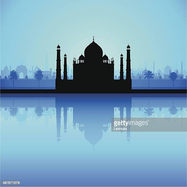 taj mahal (detailed, moveable buildings) - agra jama masjid mosque 幅插畫檔、美工圖案、卡通及圖標