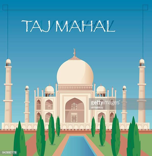 ilustrações, clipart, desenhos animados e ícones de taj mahal - taj mahal