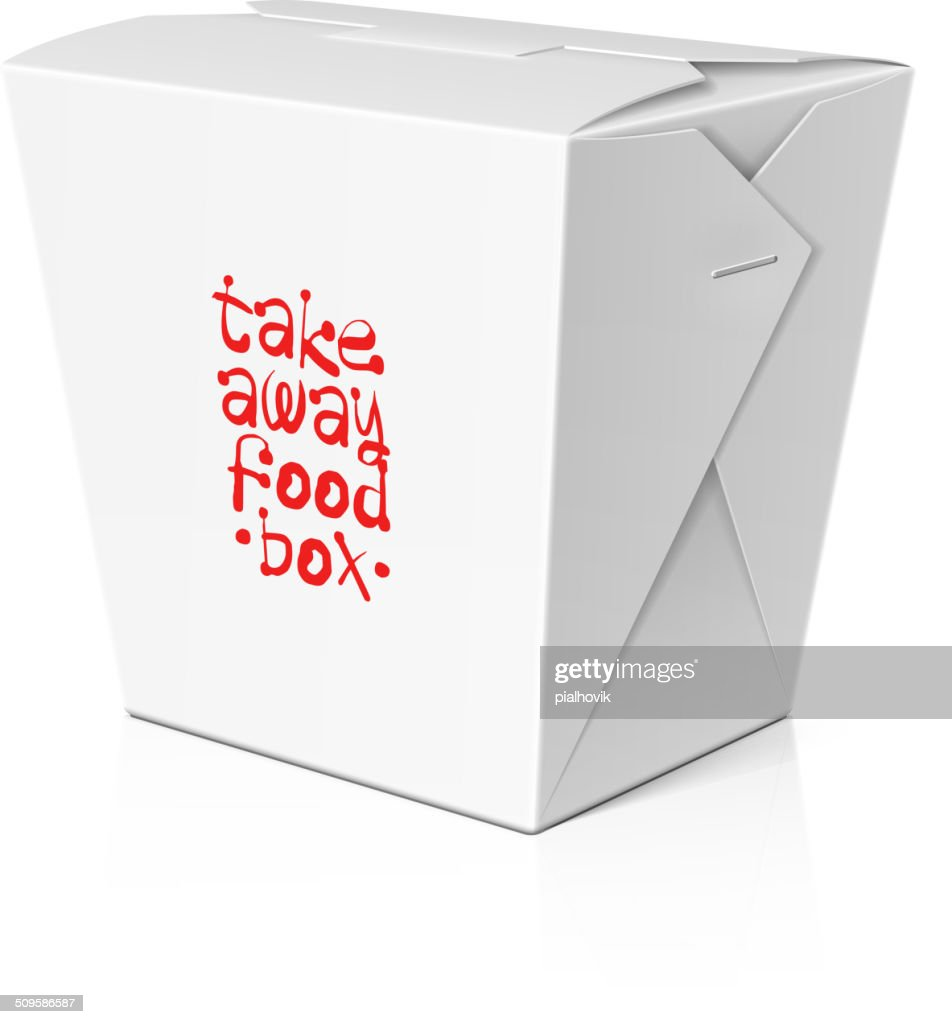 Take away food, noodle box