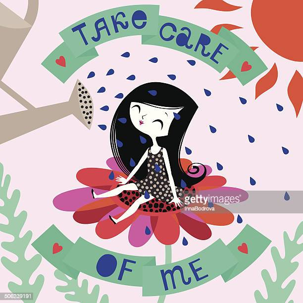 take care of me. - watering can stock illustrations, clip art, cartoons, & icons