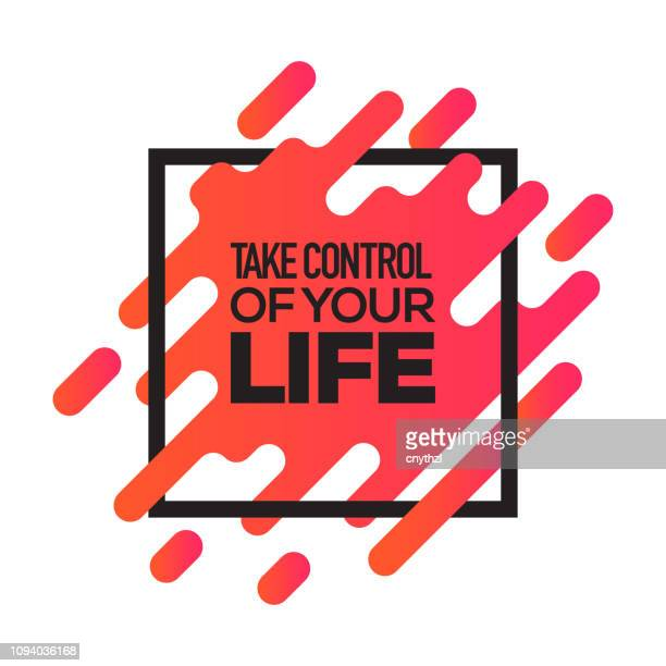 take control of your life. inspiring creative motivation quote poster template. vector typography - illustration - attitude stock illustrations, clip art, cartoons, & icons