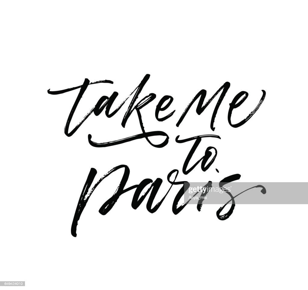 Take me to Paris postcard.