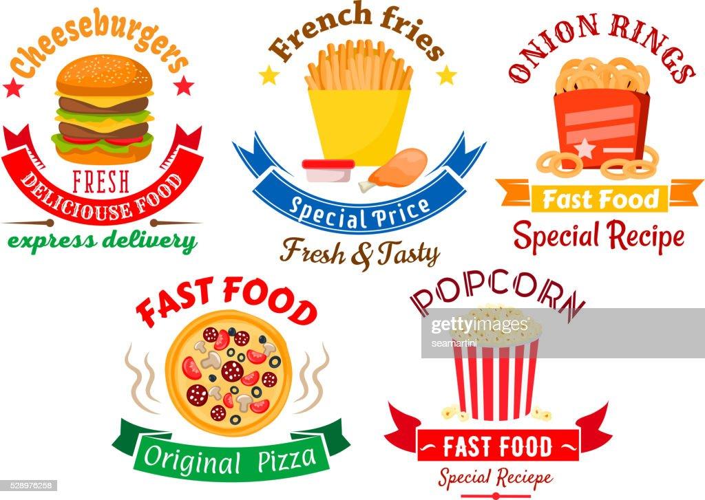 Takeaway meal symbols for fast food design