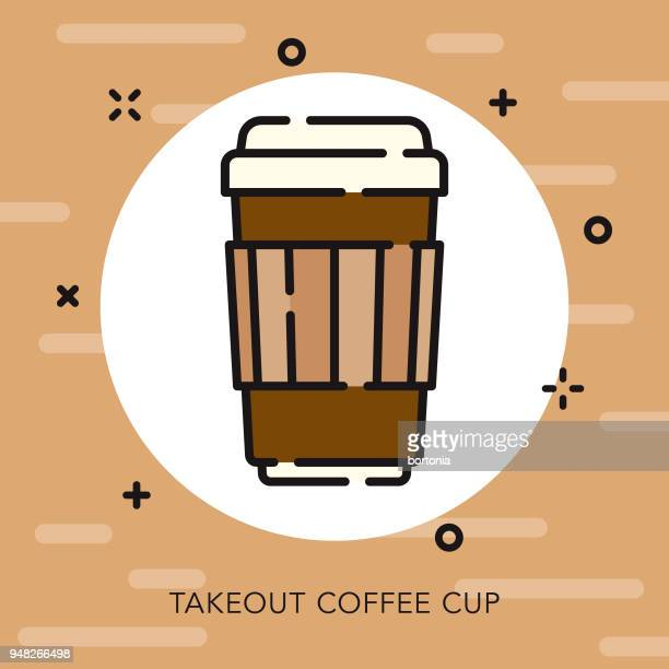 Takeout Cup Open Outline Coffee & Tea Icon