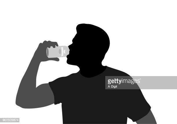 taking a gulp - tequila drink stock illustrations, clip art, cartoons, & icons
