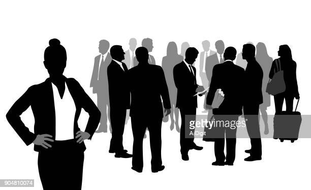 taking care of details business woman - employee stock illustrations