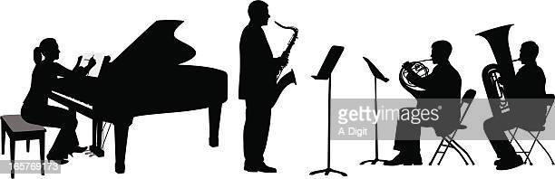 illustrations, cliparts, dessins animés et icônes de talentshow - pupitre à musique