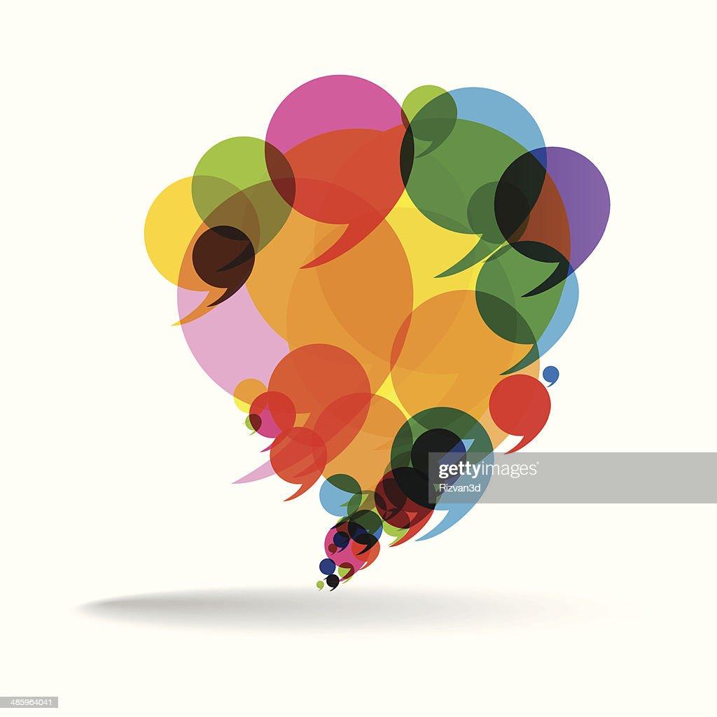 Talk Balloon Abstract Vector Illustration