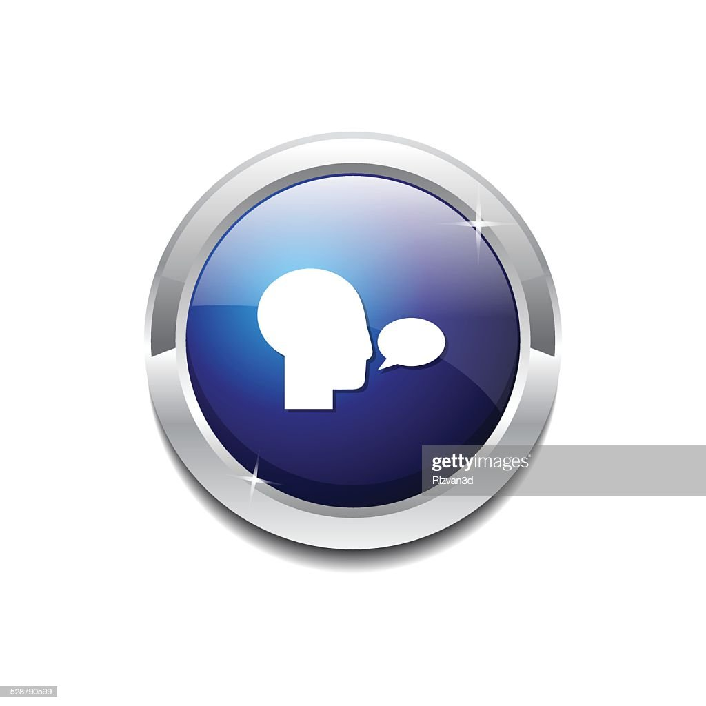Talk Blue Vector Icon Button