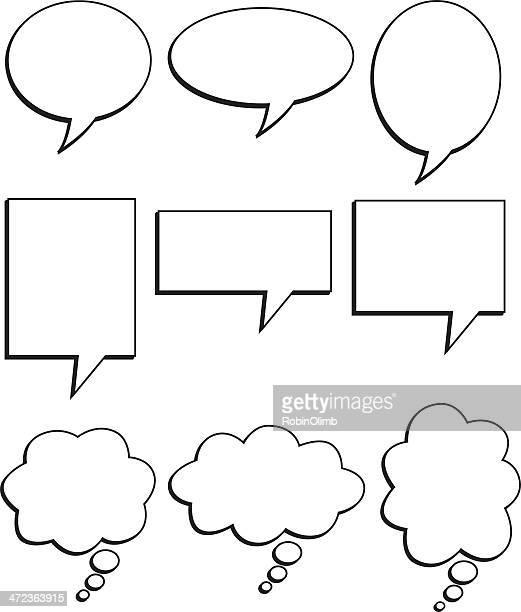 talk bubbles - thought bubble stock illustrations