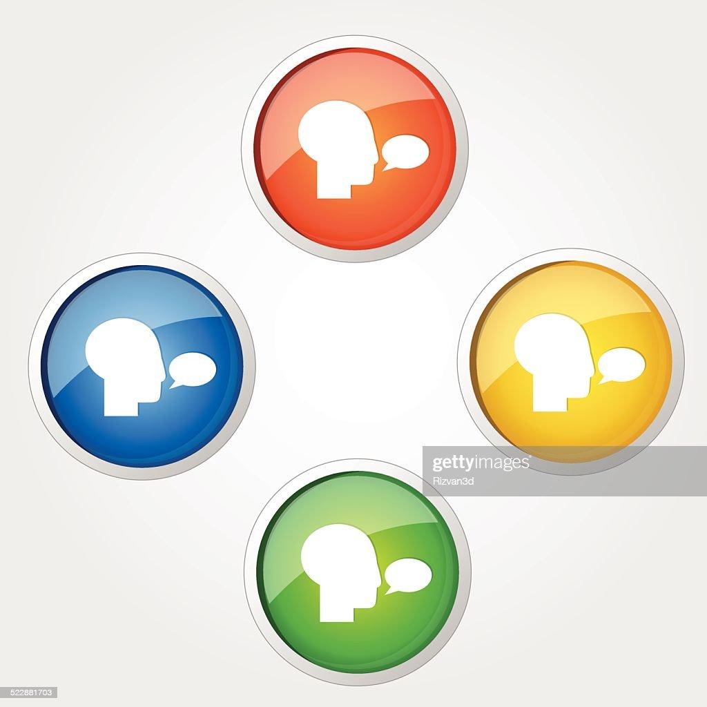 Talk Colorful Vector Icon Design