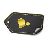 Talk golden Vector Icon Design