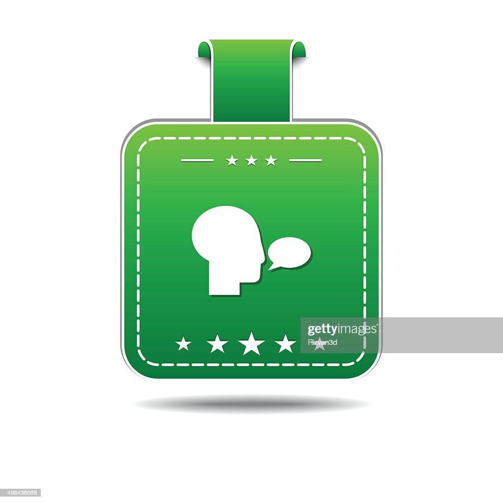 Talk Green Vector Icon Design