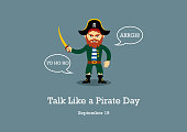 Talk Like a Pirate Day vector