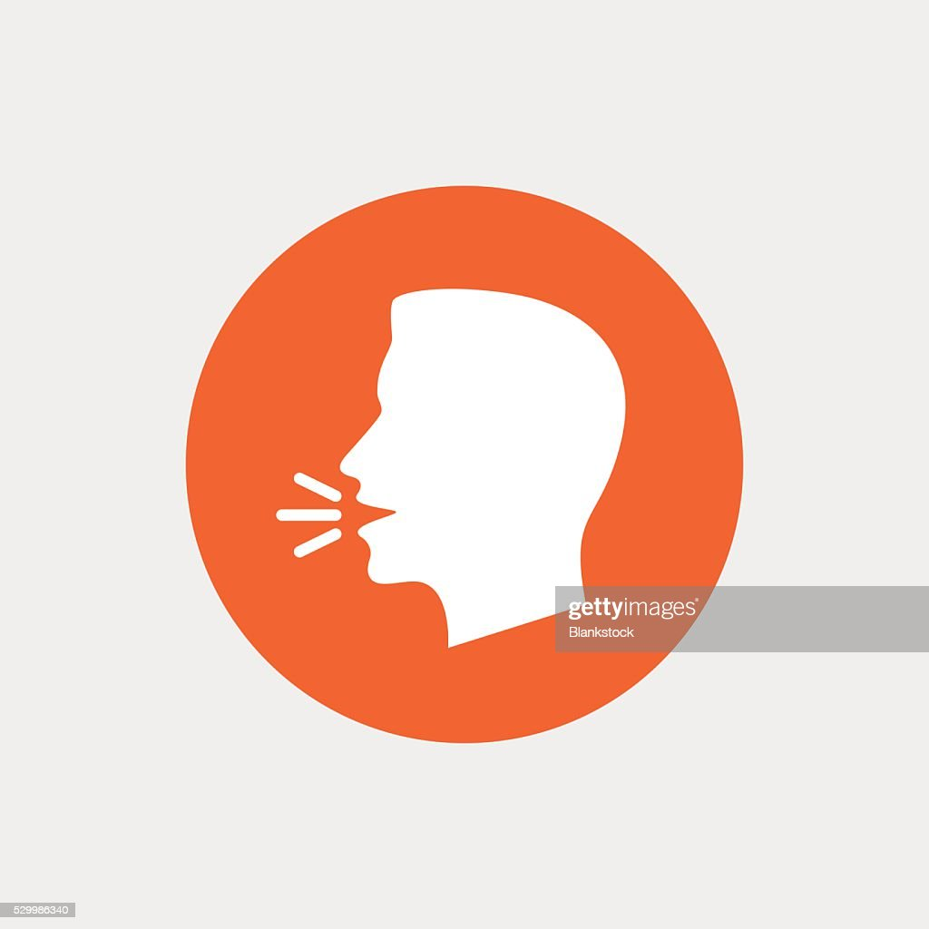 Talk Or Speak Icon Loud Noise Symbol Vector Art Getty Images