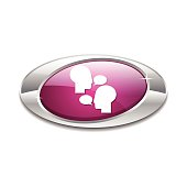Talk Pink Vector Icon Button