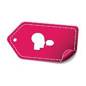 Talk Pink Vector Icon Design