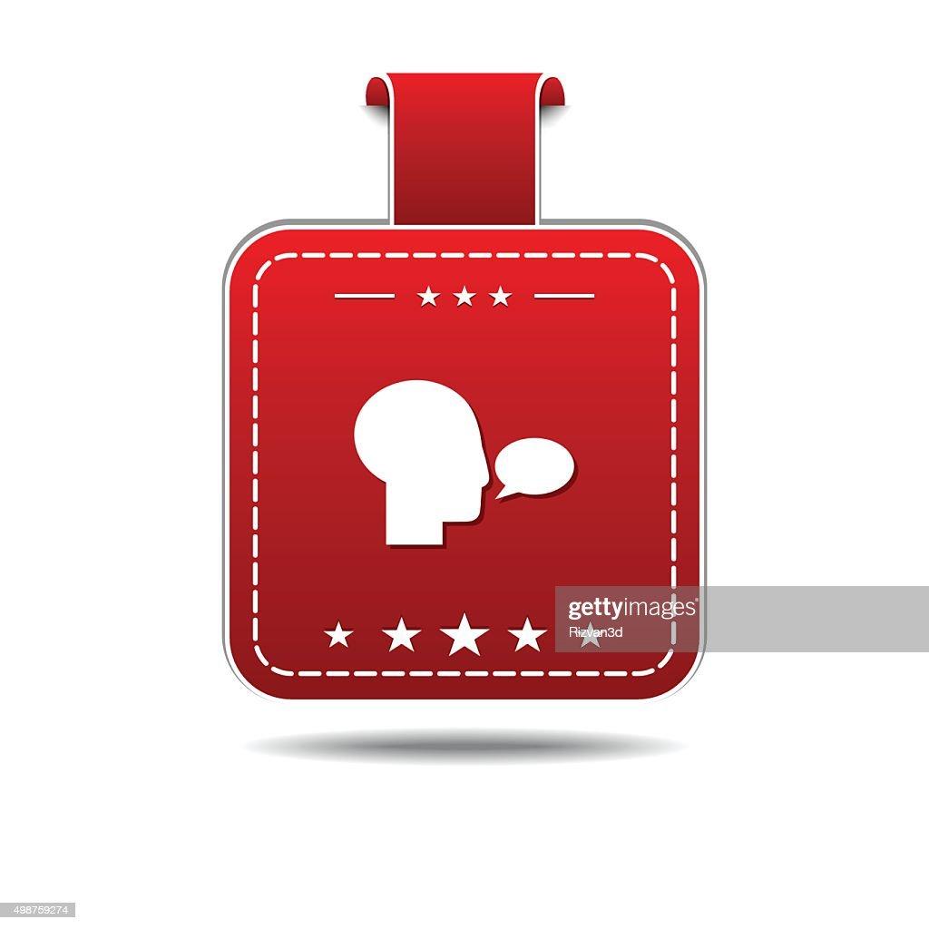 Talk Red Vector Icon Design