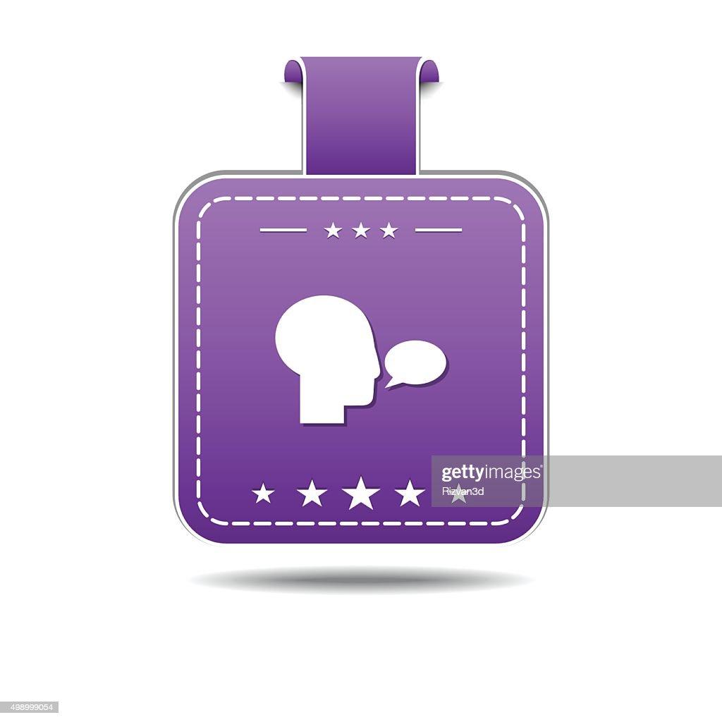 Talk Violet Vector Icon Design