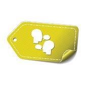 Talk Yellow Vector Icon Design