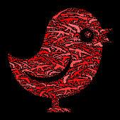 Talking Bird Gun Icon Pattern Background