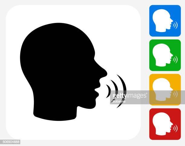 Hablando cara plana de iconos de diseño gráfico