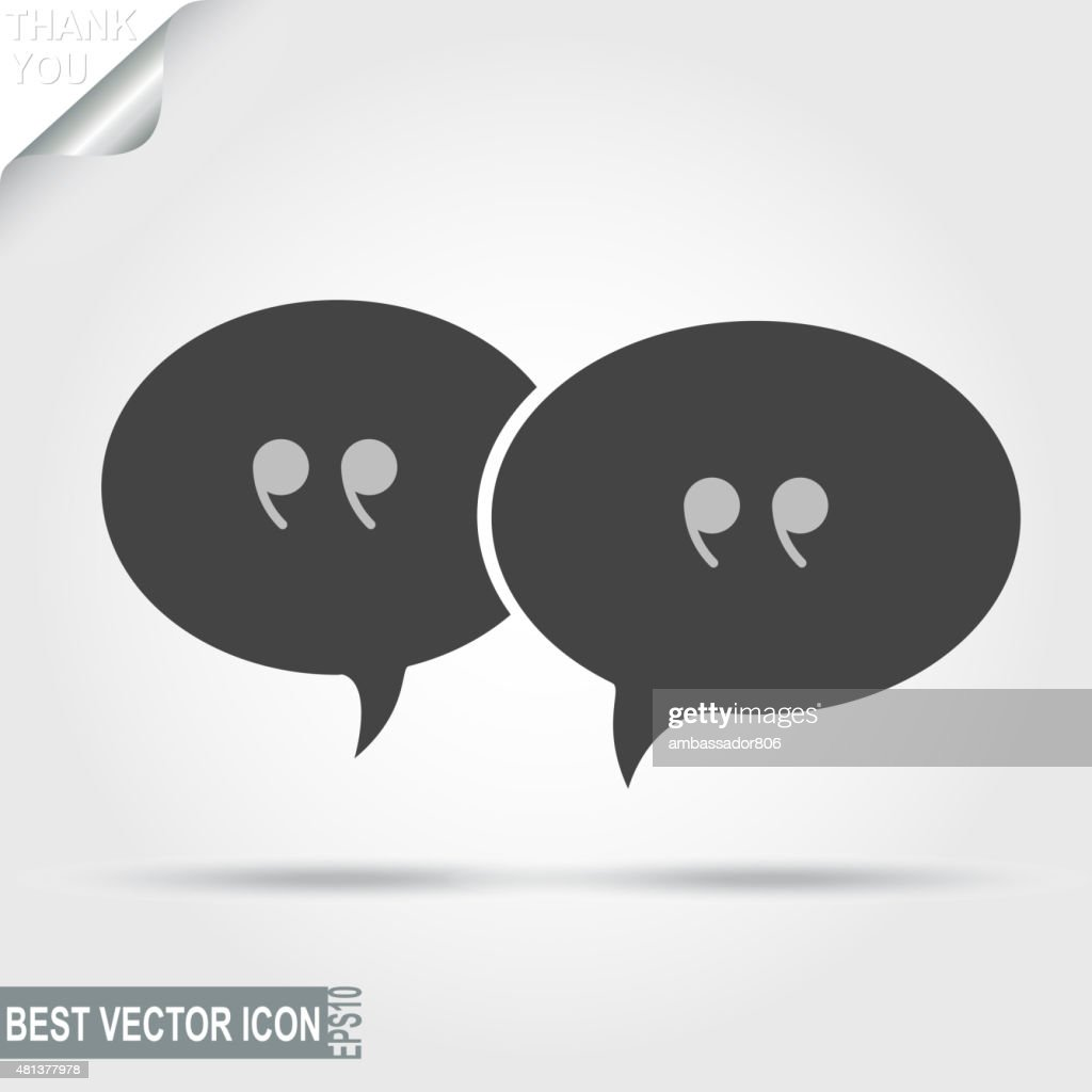 Talking, Message, Discussion Pictograph, Chat icon - vector illu