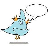 Talking Singing Bird Mascot Vector Design