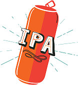 IPA Tall Can label hand lettering design