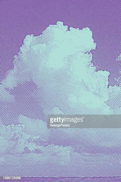Tall Cumulous Cloudscape Over Sea