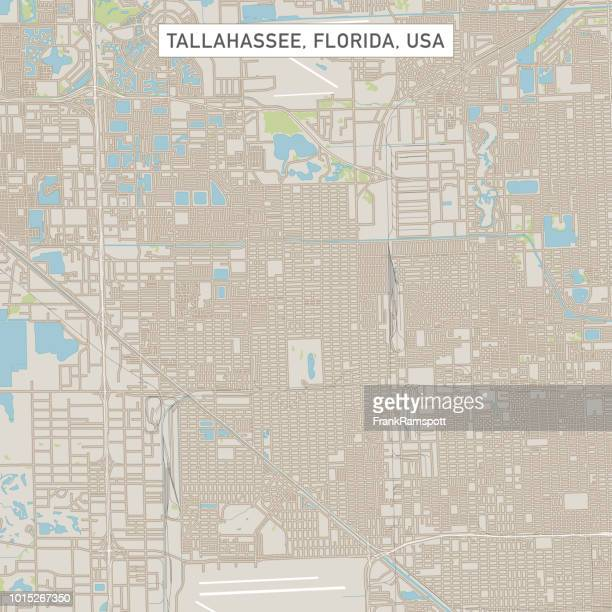 Tallahassee Florida USA Stadtstraße Karte