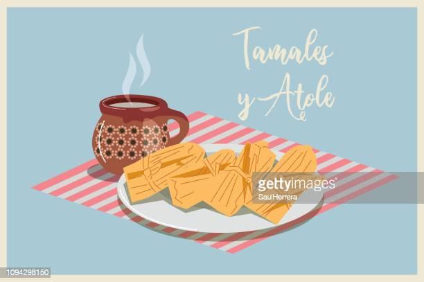 illustrations, cliparts, dessins animés et icônes de tamales - galette des rois