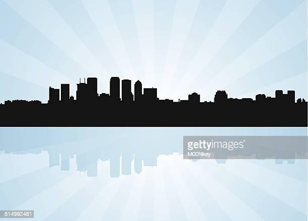 tampa florida skyline - tampa stock illustrations