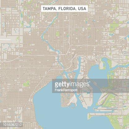 Tampa Florida Usa Map.Tampa Florida Us City Street Map Vector Art Getty Images