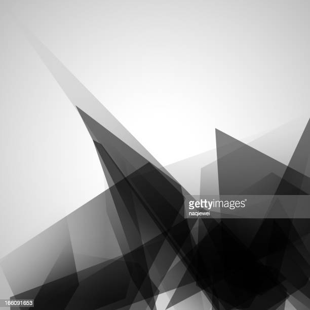 A tan and brown abstract compilation of triangles