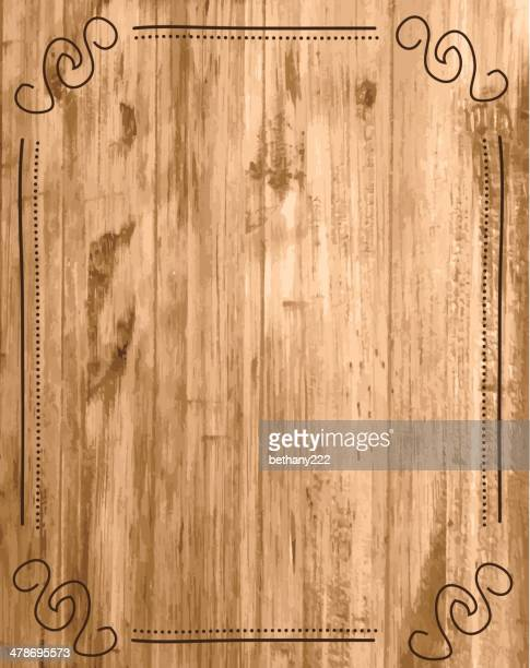tan and brown wood grain grunge background with border - blinds stock illustrations, clip art, cartoons, & icons