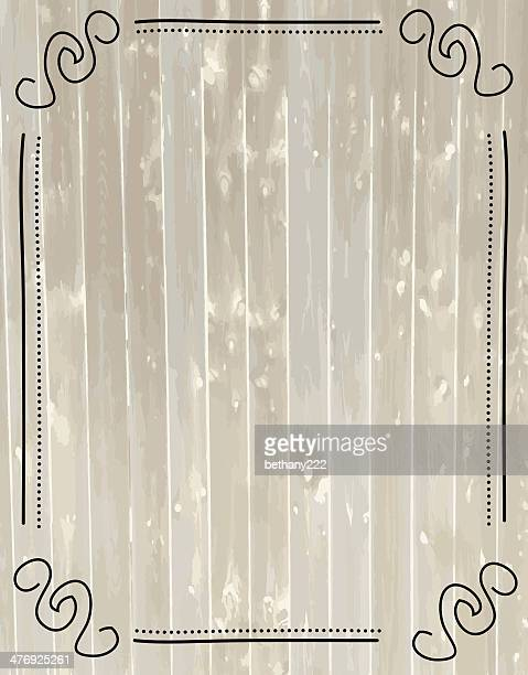 tan and grey woodgrain grunge background with lineart frame border - blinds stock illustrations, clip art, cartoons, & icons