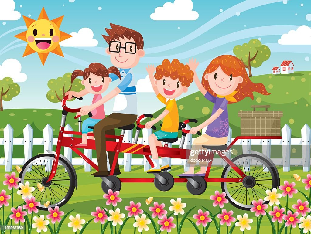 Tandem Bicycle : stock illustration