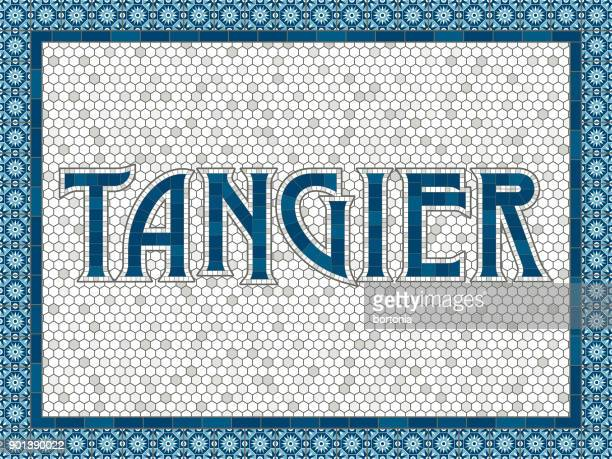 Tangier Old Fashioned Mosaic Tile Typography