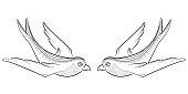 Tangle pattern swallow.