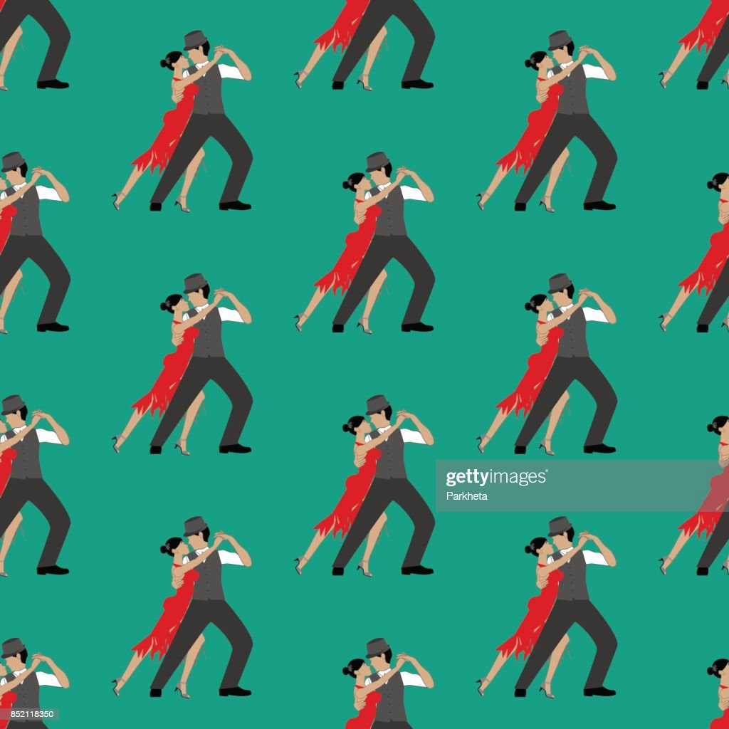 Tango seamless pattern