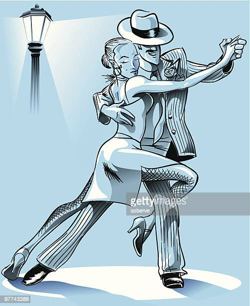 tango steps - latin american dancing stock illustrations, clip art, cartoons, & icons