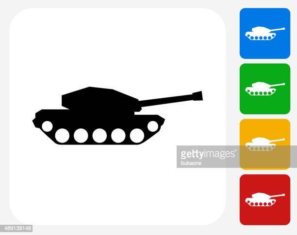 tank icon flat graphic design - tank stock illustrations