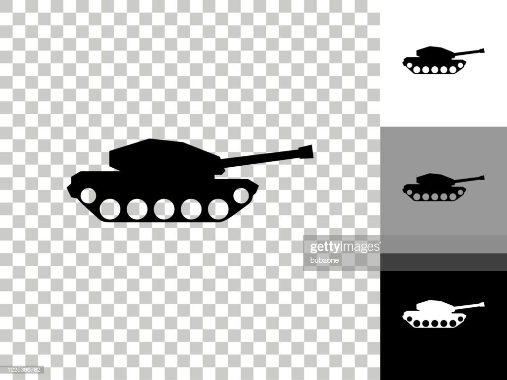 tank icon on checkerboard transparent background high res vector graphic getty images https www gettyimages co uk detail illustration tank icon on checkerboard transparent royalty free illustration 1225386782