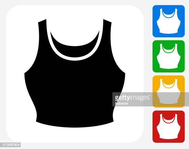 Tank Top Icon Flat Graphic Design