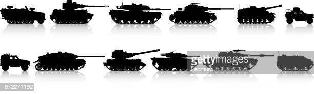 tanks - armored tank stock illustrations