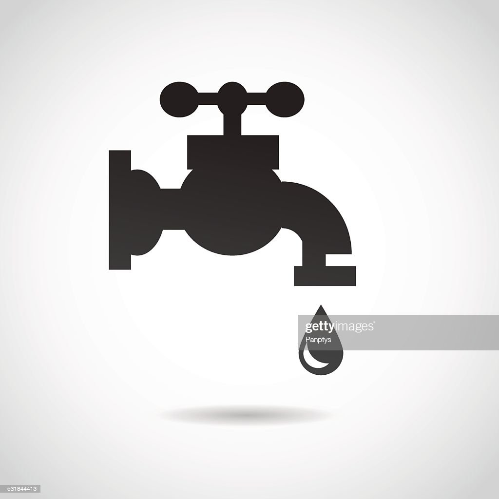 Tap icon isolated on white background.