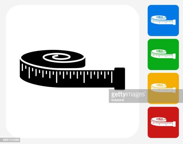 Tape Measure Icon Flat Graphic Design