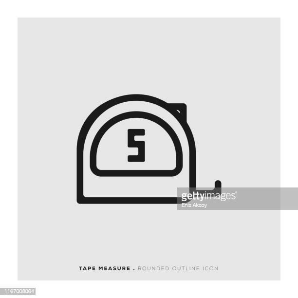 tape measure icon - centimetre stock illustrations