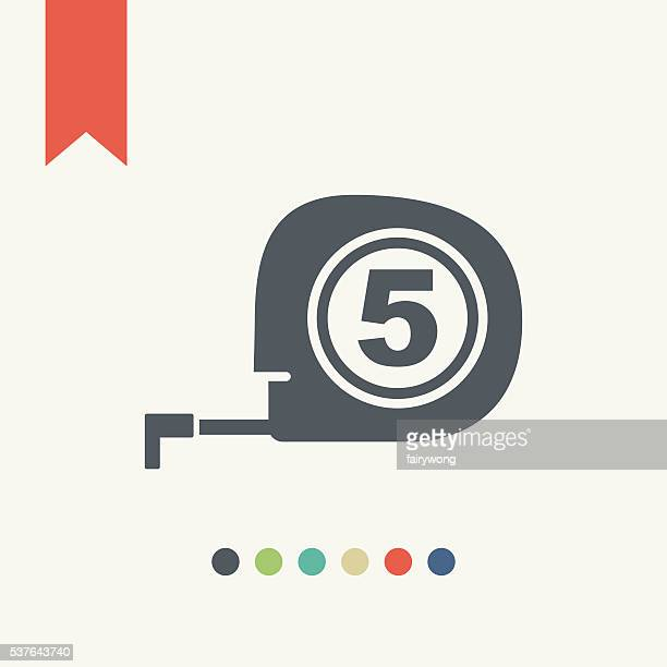 tape measure icon - meter unit of length stock illustrations